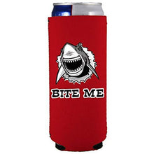 Load image into Gallery viewer, Bite Me Shark 12 oz Can Coolie