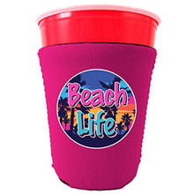 Load image into Gallery viewer, Beach Life Party Cup Coolie