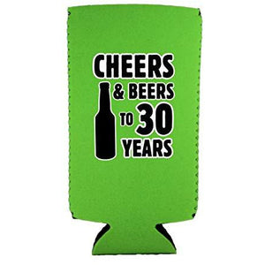 Cheers & Beers to 30 Years Slim Can Coolie