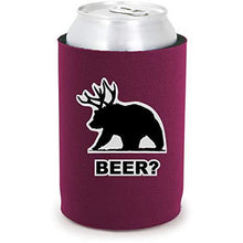 Load image into Gallery viewer, Beer Bear Full Bottom Can Coolie