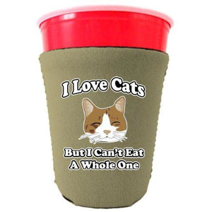 I Love Cats Party Cup Coolie