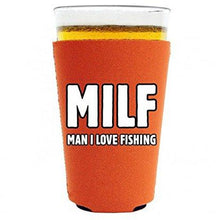 Load image into Gallery viewer, MILF, Man I Love Fishing Pint Glass Coolie