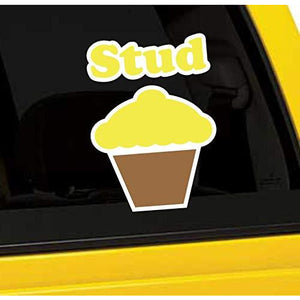 Stud Muffin Vinyl Sticker