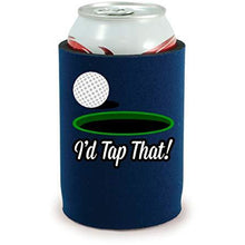 Load image into Gallery viewer, full bottom can koozie with id tap that design