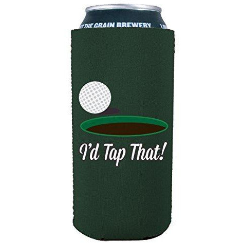16oz can koozie with id tap that design funny
