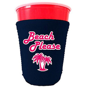 Beach Please Party Cup Coolie