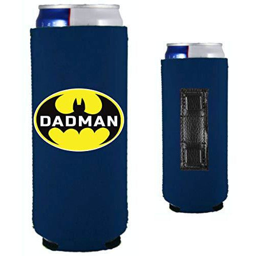 navy blue magnetic slim can with dadman funny design