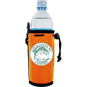 I'd Rather Be Fishing Water Bottle Coolie