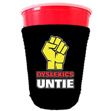 Load image into Gallery viewer, Dyslexics Untie Party Cup Coolie
