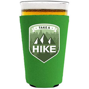 Take A Hike Pint Glass Coolie
