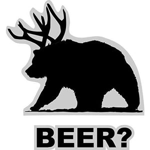 vinyl sticker with beer bear design