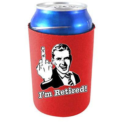 can koozie with im retired design