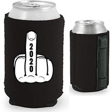 Load image into Gallery viewer, magnetic can koozie with 2020 middle finger funny design