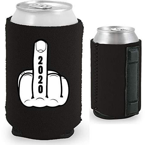 magnetic can koozie with 2020 middle finger funny design