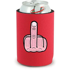 full bottom can koozie with middle finger design