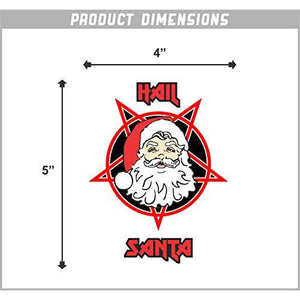Hail Santa Vinyl Sticker