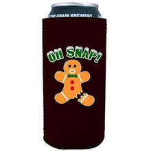 Load image into Gallery viewer, Oh Snap! Gingerbread Man 16 oz. Can Coolie