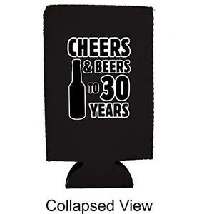 Cheers & Beers to 30 Years 16 oz Can Coolie