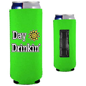 Day Drinkin Magnetic Slim Can Coolie