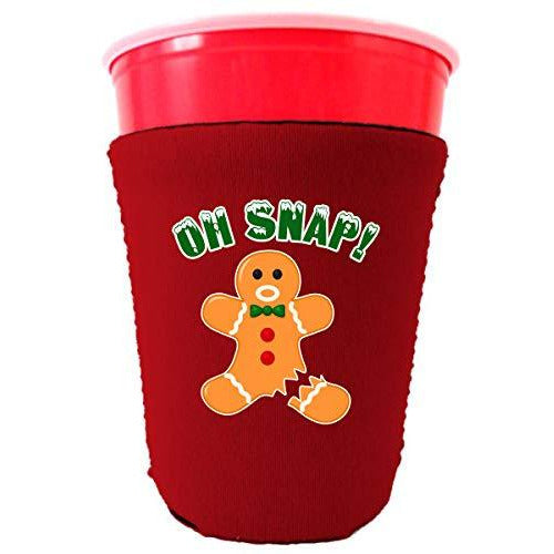 red party cup koozie with oh snap design