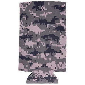 Digital Camo Pattern Slim Can Coolie