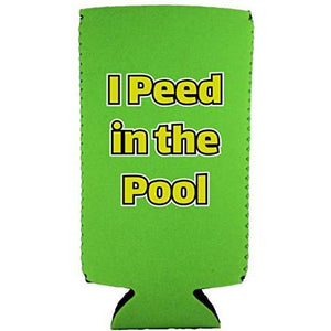 I Peed in the Pool Slim 12 oz Can Coolie