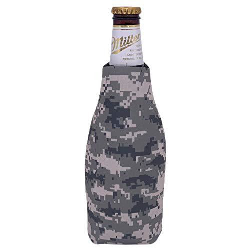 beer bottle koozie with digital camo pattern design