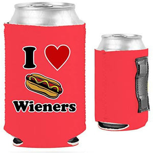 I Love Wieners Magnetic Can Coolie