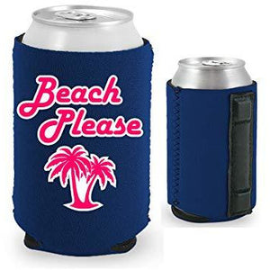 Beach Please Magnetic Can Coolie