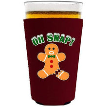 Load image into Gallery viewer, Oh Snap! Gingerbread Man Pint Glass Coolie