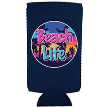 Load image into Gallery viewer, Beach Life Slim 12 oz Can Coolie