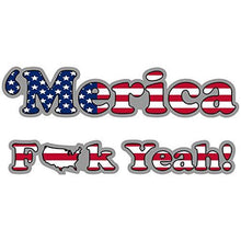 Load image into Gallery viewer, vinyl sticker with merica fuck yeah design