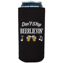Load image into Gallery viewer, 16 oz can koozie with dont stop believing design