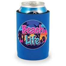 Load image into Gallery viewer, Beach Life Full Bottom Can Coolie