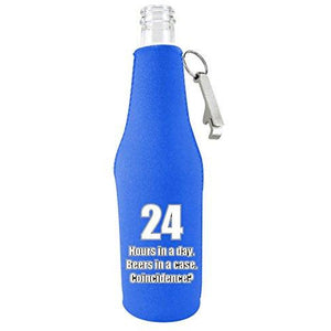 24 Hours Funny Beer Bottle Coolie With Opener