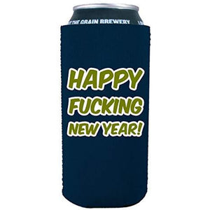 Merry Fucking Christmas Happy Fucking New Year 16 oz. Can Coolie