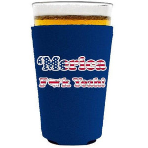 pint glass koozie with merica design