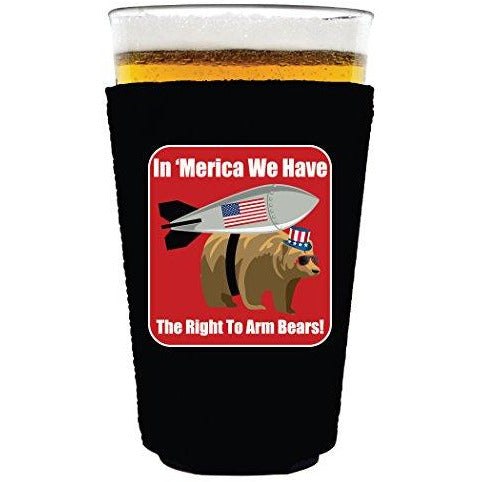 pint glass koozie with right to bear arms design