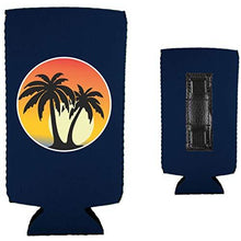 Load image into Gallery viewer, Palm Tree Sunset Magnetic Slim Can Coolie