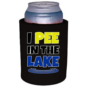 "I Pee In The Lake Thick Foam ""Old School"" Can Coolie"