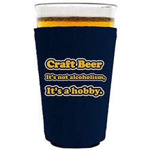 Load image into Gallery viewer, Craft Beer Alcoholism Pint Glass Coolie