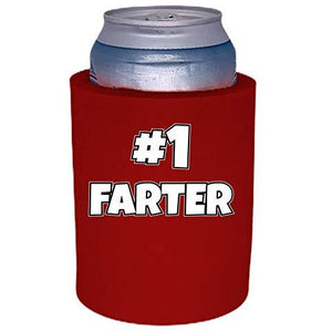 "#1 Farter Thick Foam""Old School"" Can Coolie"