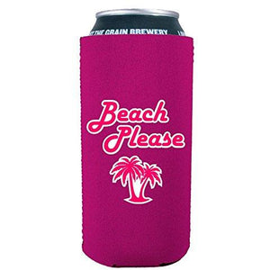 Beach Please 16 oz Can Coolie