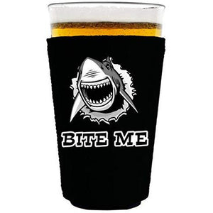 Bite Me Shark Pint Glass Coolie