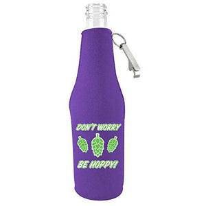 Don't Worry Be Hoppy! Beer Bottle Coolie