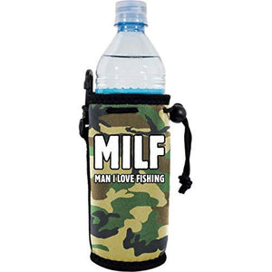 MILF Man I Love Fishing Water Bottle Coolie