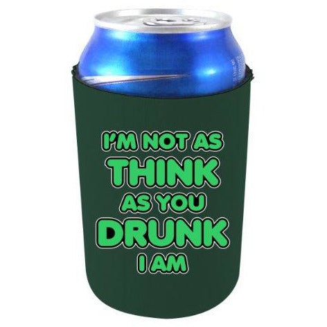 dark green can koozie with