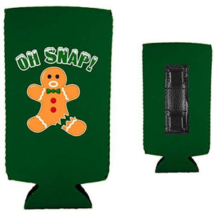 Oh Snap! Gingerbread Man Magnetic Slim Can Coolie