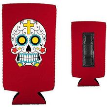 Load image into Gallery viewer, Sugar Skull Magnetic Slim Can Coolie