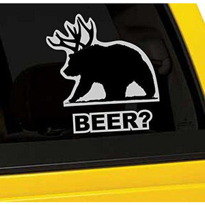 Beer Bear Vinyl Sticker